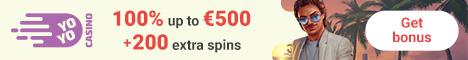 YoYo Casino €500 Bonus + 200 Free Spins