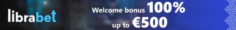 LibraBet Casino €500 Welcome Bonus + 200 Free Spins