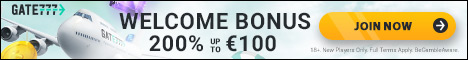 Gate 777 Casino $/€1000 Welcome Bonus + 100 Extra Spins