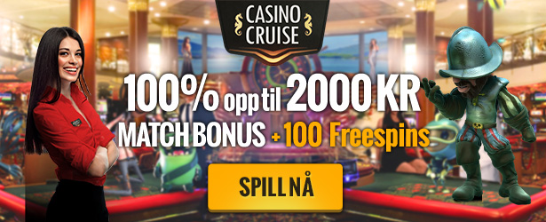 CasinoCruise.com Welcome 100% up to 2000 + 100 FS NOR NOK