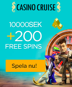 CasinoCruise.com Welcome Package 10.000 + 100 FS SWE SEK