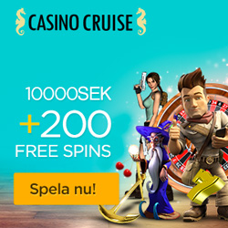 CasinoCruise.com Welcome Package 10.000 + 200 FS SWE SEK 250x250