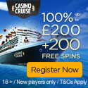 Casino Cruise Exclusive Welcome 100% up to 200 EN UK