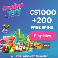 Casino Joy $/€1000 Bonus + 200 Free Spins