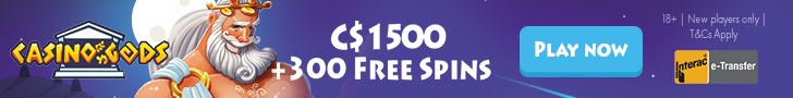 Get a $1500 Welcome Bonus Package + 300 Free Spins at Casino Gods
