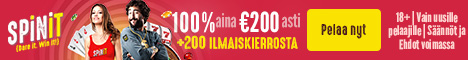 Spinit.com Welcome Bonus 100% up to 200 FIN EUR