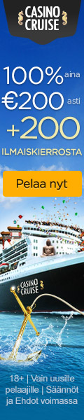 CasinoCruise.com Exclusive Welcome 100% up to 200 FI EUR