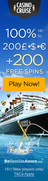 CasinoCruise.com Welcome 100% up to 200 + 200 Free Sprins
