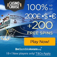 CasinoCruise.com Welcome 100% up to 200 + 100 FS ENG ALL 216x36 200x200