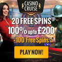 CasinoCruise.com Exclusive 20 FS ND + 100% up to 200 ENG GBP