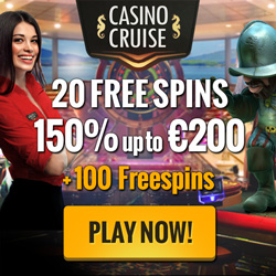 Exclusive: CasinoCruise – 20 + 100 Free Spins & 150% up to £200 & Win A Dream Cruise