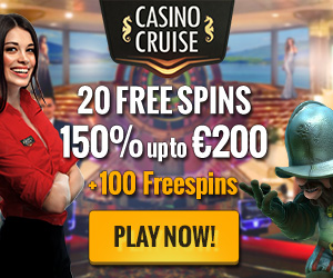 Exclusive offer: CasinoCruise – 20 + 100 Free Spins & 150% up to £200 & Win A Dream Cruise