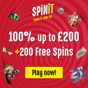 Spinit Welcome Bonus 100% up to 200 ENG GBP