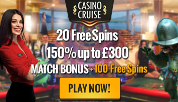 CasinoCruise.com Exclusive 20 FS ND + 150% up to 300 + 100 FS ENG ALL