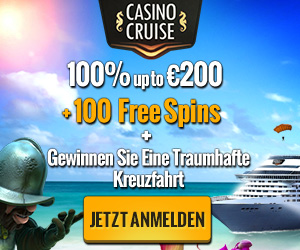 CasinoCruise.com Welcome 100% up to 200 + 200 FS GER EUR