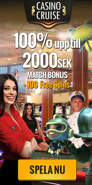 CasinoCruise.com Welcome 100% up to 200 SV SEK