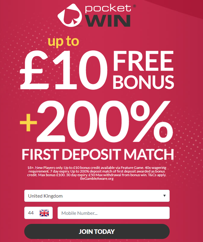 £5 FREE Registration Bonus!