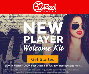 32Red Poker - New Player Welcome Kit !