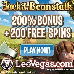 Leo Vegas 200 Free Spins Bonus