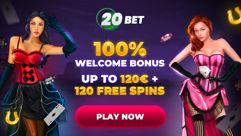 Get a €/$120 Welcome Bonus + 120 Free Spins at 20Bet Casino