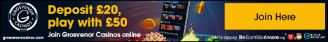 Up to �500 cashback, join Grosvenor Casino today.