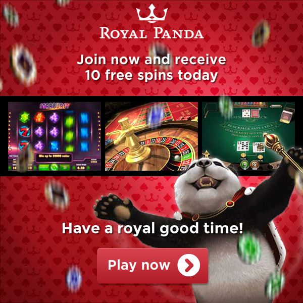 Welcome offer Royal Panda