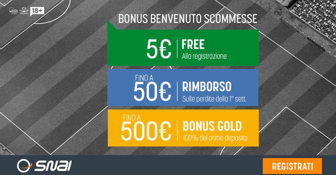 Bonus scommesse SNAI